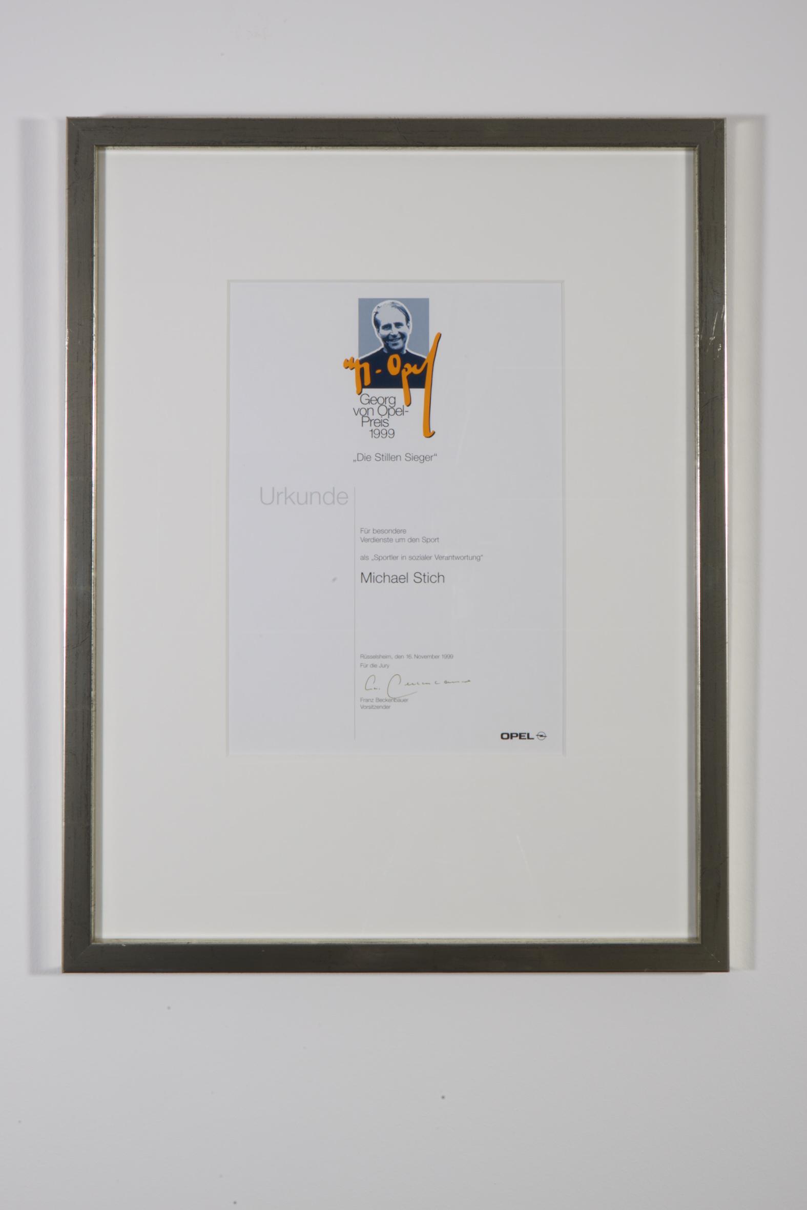 Georg von Opel Preis, 1999