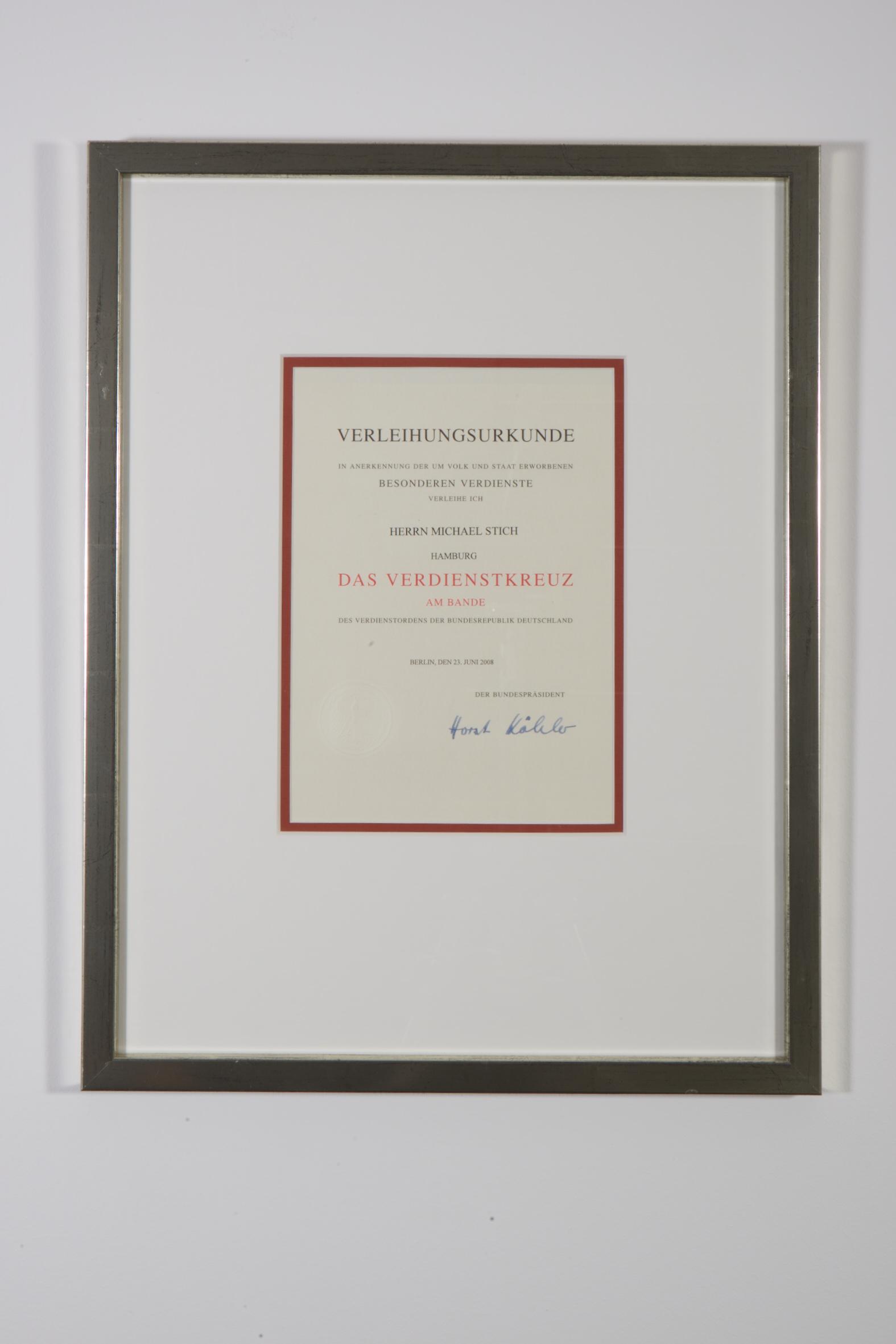 Bundesverdienstkreuz, 2008