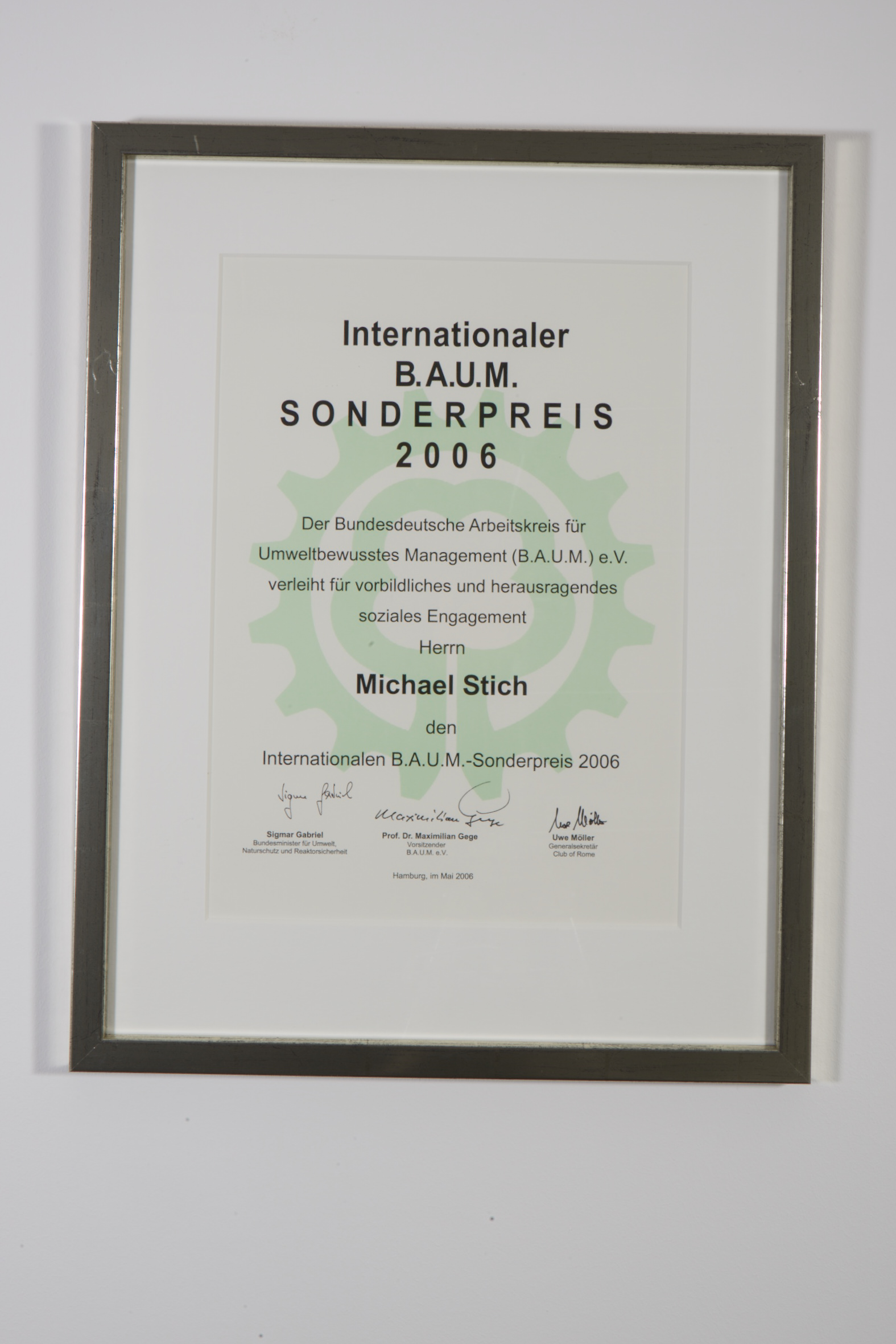 Internationaler B.A.U.M. Sonderpreis, 2006
