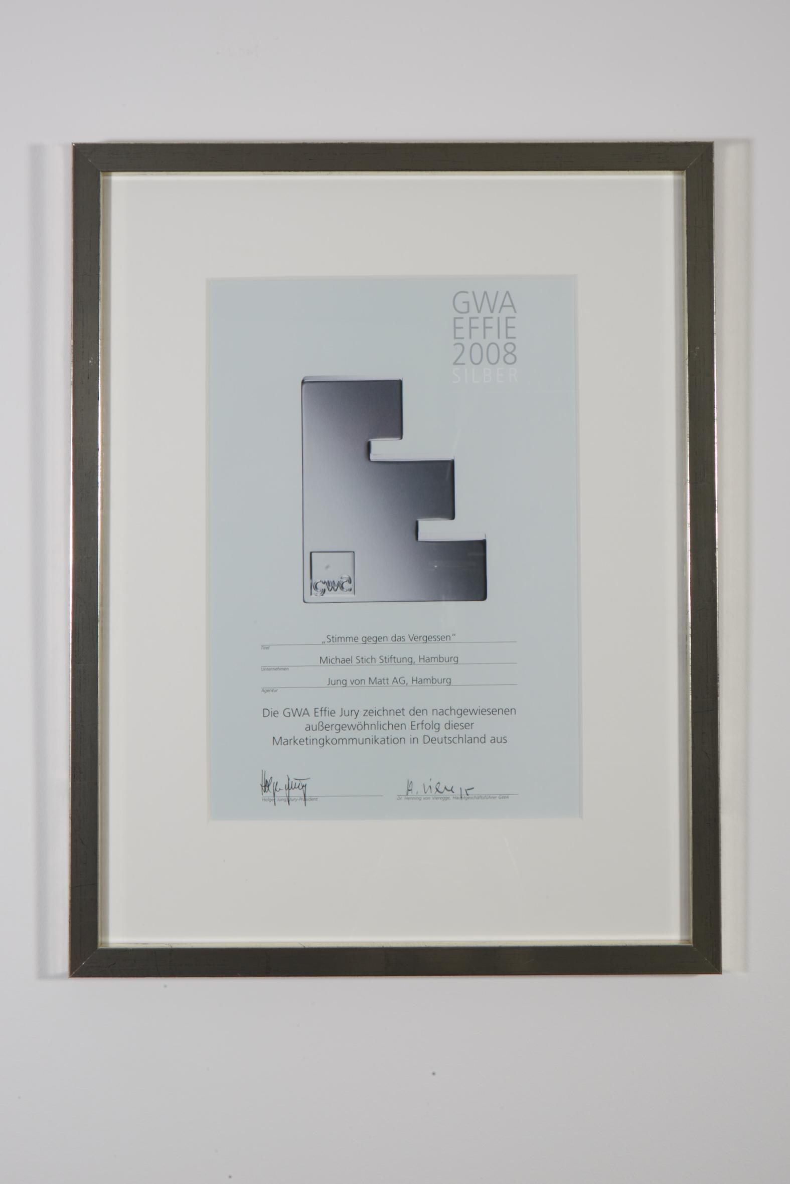 GWA Effie Preis, 2008